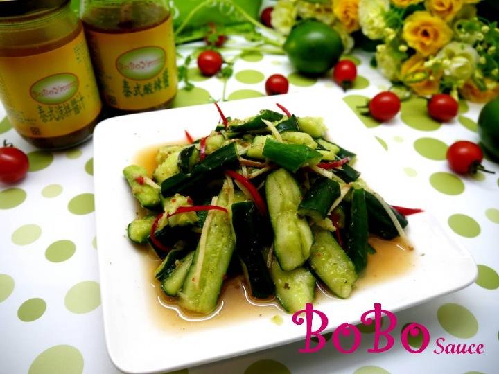 BOBO 食譜 - 全素食泰式涼拌小黃瓜