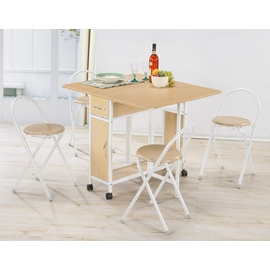 《C&B》便利折疊桌椅組(一桌四椅)