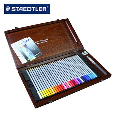 施德樓 MS125W60 金鑽級水性色鉛筆 60色組 木盒精裝版