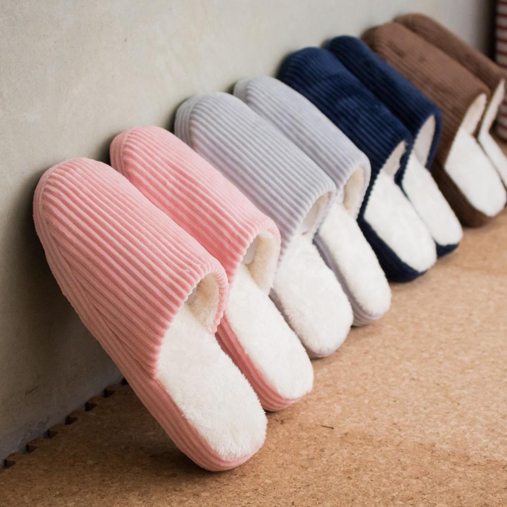室內拖鞋 (免運) 北歐風直條紋 保暖拖鞋│室內室外拖鞋 防滑 情侶拖鞋