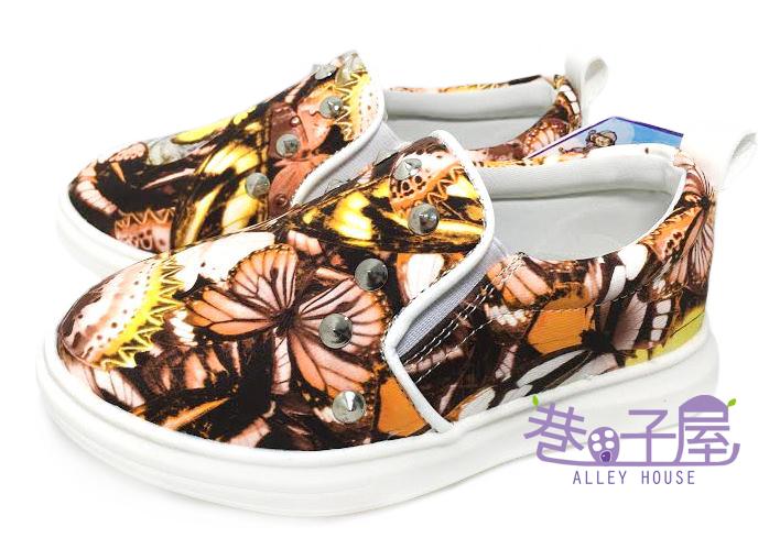 【巷子屋】知星王子 童款蝴蝶鉚釘運動休閒鞋 [602] 超值價$198