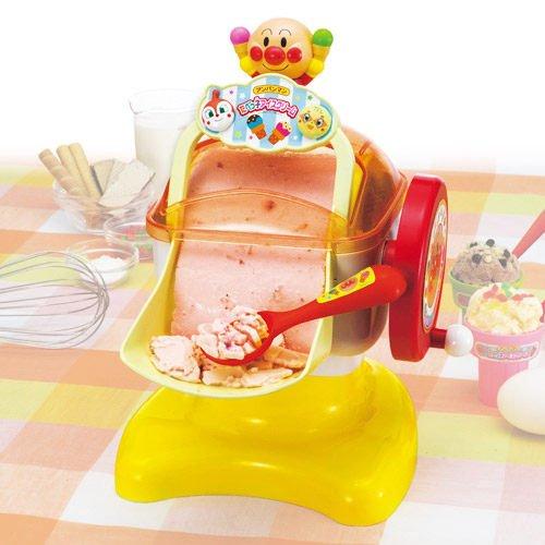 日潮夯店_日本正版進口_AKACHAN_麵包超人 製冰機玩具 做冰淇淋機 親子一起動手做