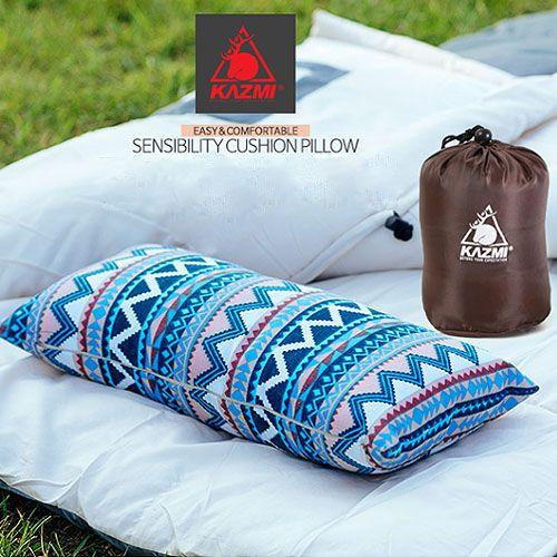 【露營趣】中和 KAZMI K6T3M001 民族風攜帶式棉枕 露營枕頭 非充氣枕頭