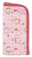 『日本代購品』 HELLO KITTY 愛心凱蒂貓餐具包 薄型防水餐具袋