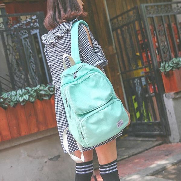 後背包-雙口袋大容量後背包-共4色-6056- J II