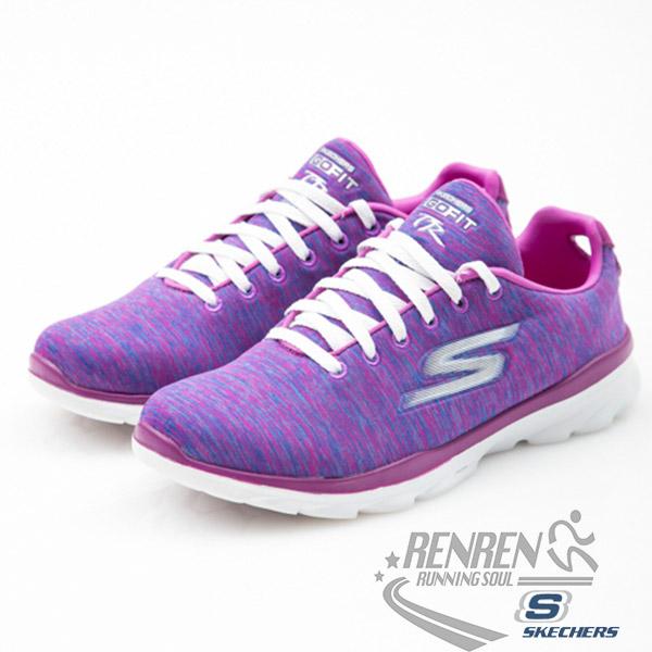 SKECHERS 女健走鞋 GO FIT TR(紫) 懶人鞋 穿拖自如