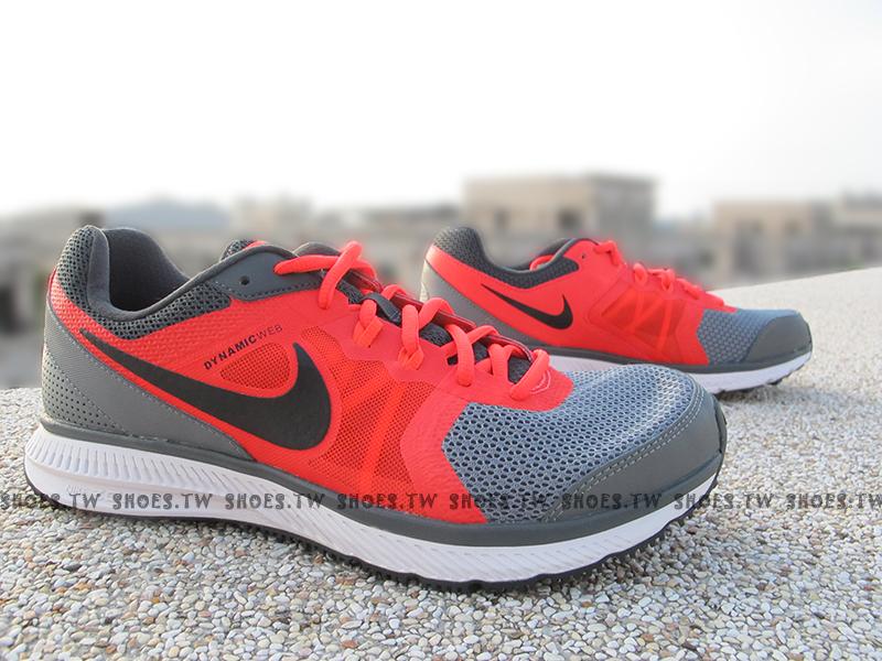 Shoestw【724939-018】NIKE ZOOM WINFLO MSL 慢跑鞋 灰橘紅黑 男生款式