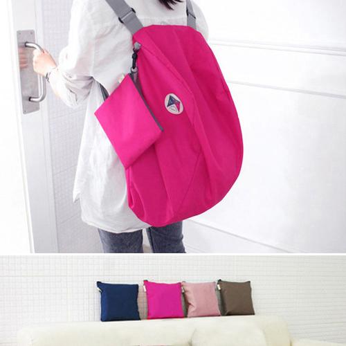 旅行袋 糖果色可折疊多功能後背包收納包【MJD882】 BOBI  05/12