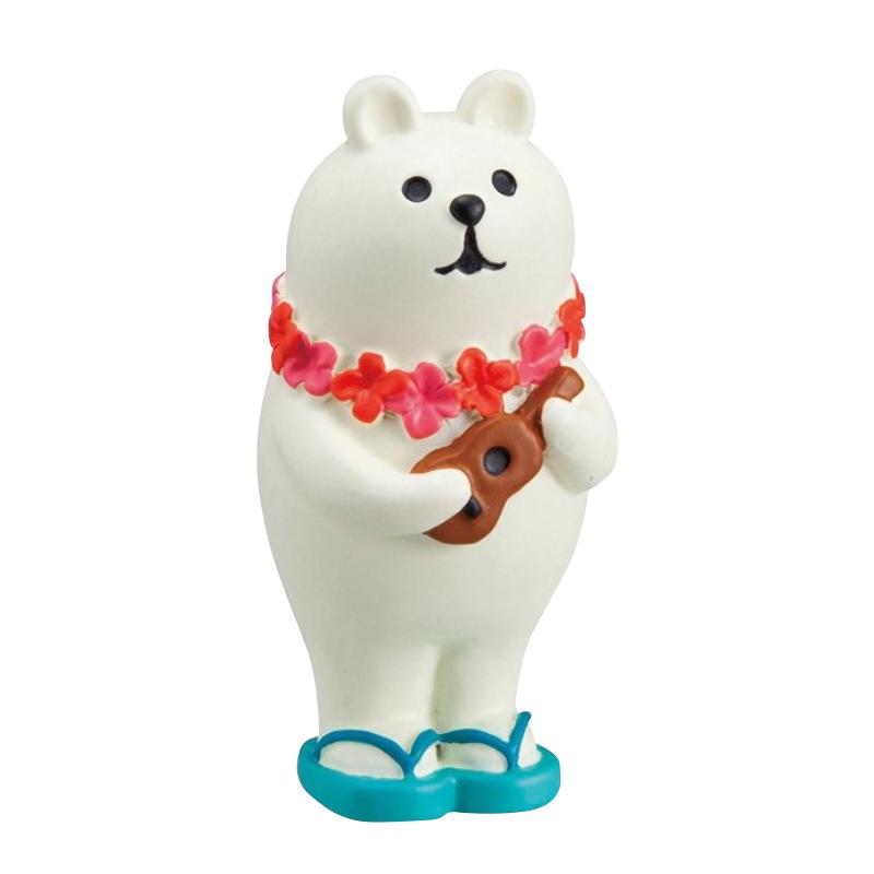Decole日本擺飾小玩偶 / 公仔 -  Concombre 彈烏克麗麗的白熊 ( ZCB-87914 )
