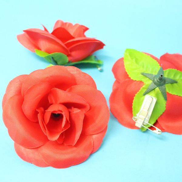 玫瑰胸花 中尼龍布玫瑰花胸花 玫瑰禮花(附84黏夾)/一朵入{定12}~3785~