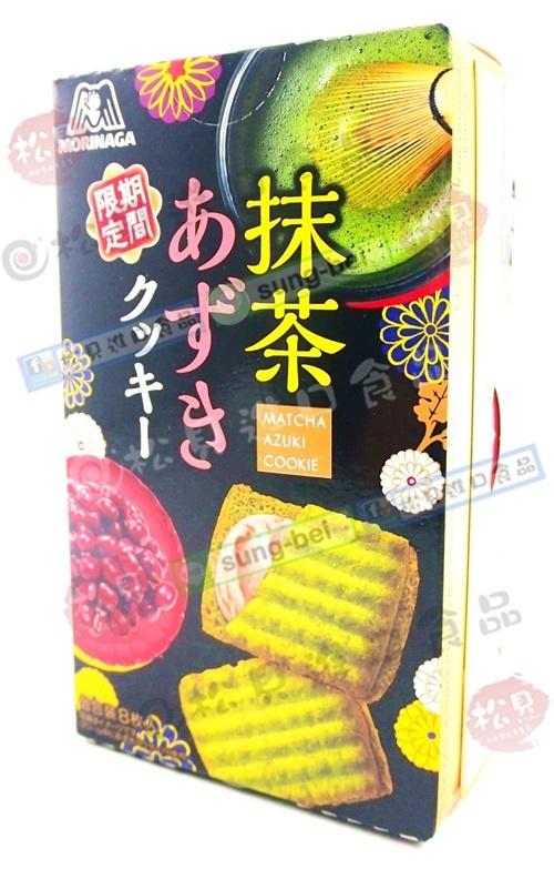 森永抹茶紅豆夾心餅93g【4902888222320】