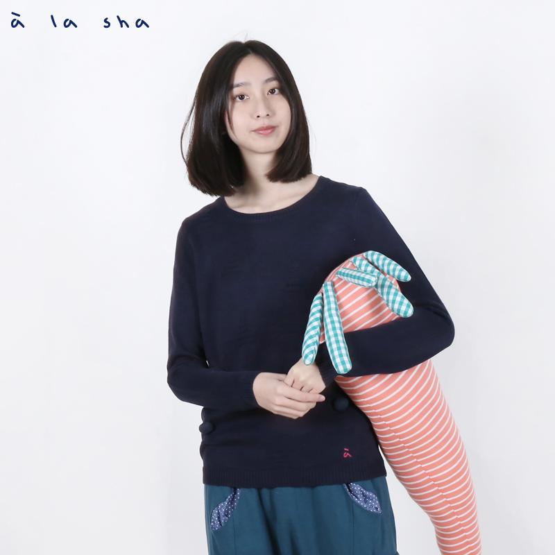 a la sha enco 阿財兔子三角毛衣