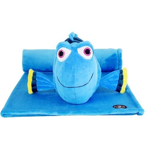 免運【禾宜精品】迪士尼  多莉 海底總動員 多功能玩偶毯 玩偶 毛毯 枕頭 Zoobies Disney Dory 結帳現折100