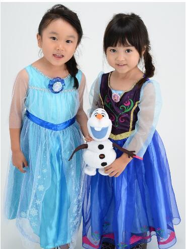 【UNIPRO】日貨 冰雪奇緣 FROZEN 艾莎 ELSA 安娜 ANNA 公主裝 萬聖節遊行 聖誕節 化妝舞會 派對 角色扮演 100~110公分兒童適用