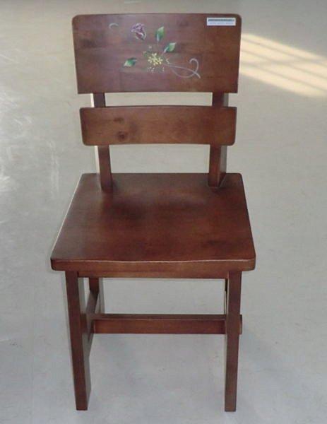 【尚品傢俱】425-04 休士頓鄉村彩繪全實木餐椅/書桌椅/化妝椅