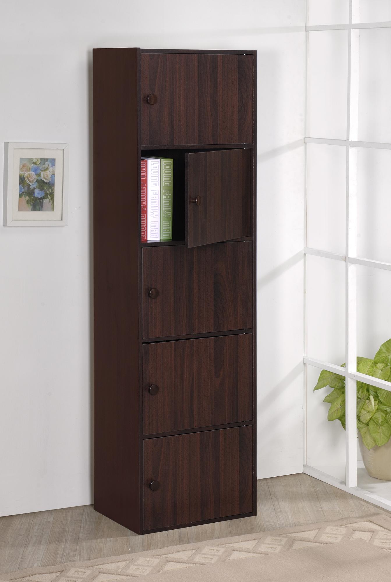 ONE 家具-DIY家具-五層附門收納櫃/書櫃/書架/高低櫃/展示櫃免運