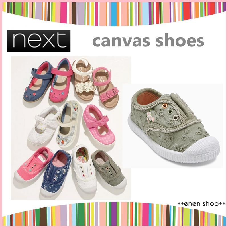 ++enen shop++ NEXT 卡其綠色帆布低筒休閒鞋 #420389 ∥ UK11/US12/EU29