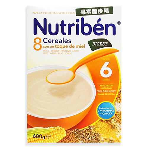 ★衛立兒生活館★Nutriben貝康-8種榖類果寡醣麥精【300gx2】/盒
