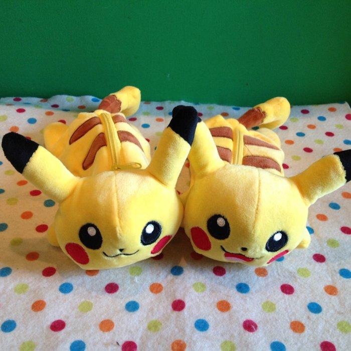 =優生活=神奇寶貝 pokemon 寶可夢 皮卡丘口袋精靈 毛絨筆袋 收納包 化妝包 筆盒
