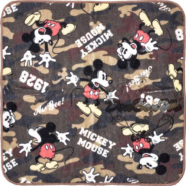 迪士尼米奇圓角毛巾手帕小方巾迷彩多圖042115海渡