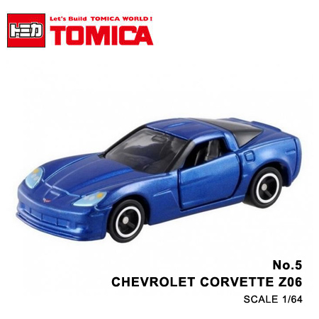 日貨 TOMICA No.5 CHEVROLET CORVETTE Z06 雪佛蘭 真車系列 汽車模型 多美小汽車【N201639】