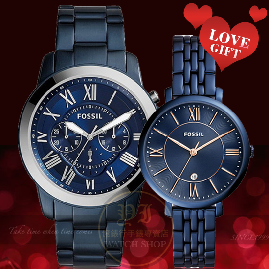 FOSSIL美式休閒品牌經典潮流情人對錶FS5230/ES4094公司貨
