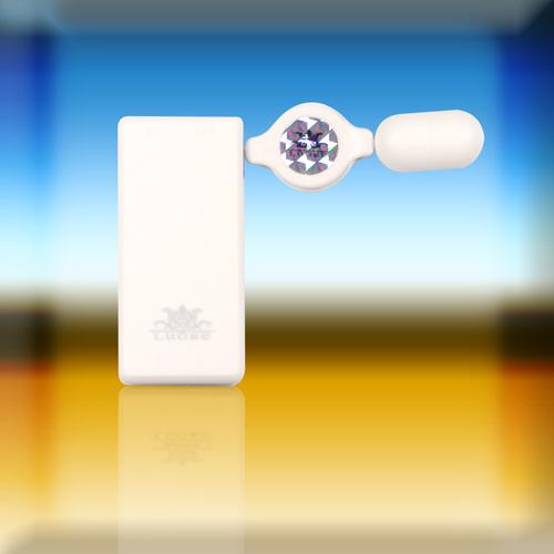 [漫朵拉情趣用品]回捲式伸縮跳蛋-雪花白 DM-60013