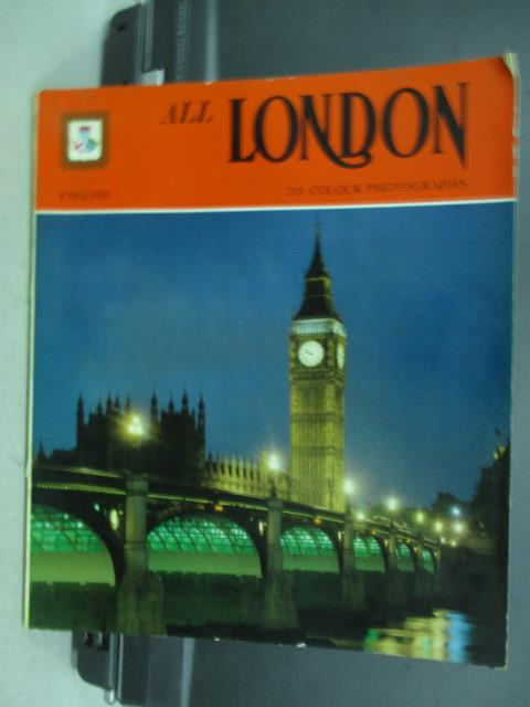 【書寶二手書T3/旅遊_QCF】ALL LONDON