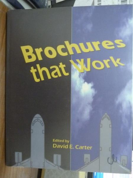 【書寶二手書T7/藝術_QHO】Brochures that work_David E. Carter