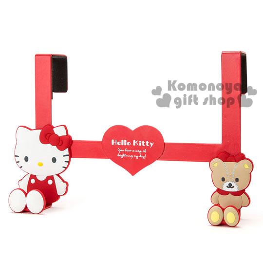 〔小禮堂〕Hello Kitty 鐵製門板掛勾《紅.坐姿.小熊》新生活系列