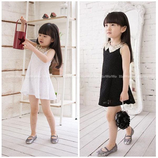 短袖洋裝 亮片花邊蕾絲連衣裙小禮服FM050