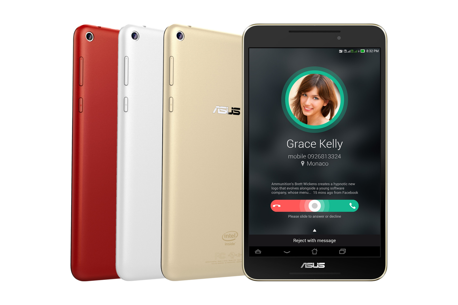 【ASUS福利品】Fonepad 8 8吋 WiFi 四核心 超輕薄 雙卡雙待可通話平板 FE380CG 1G/8G