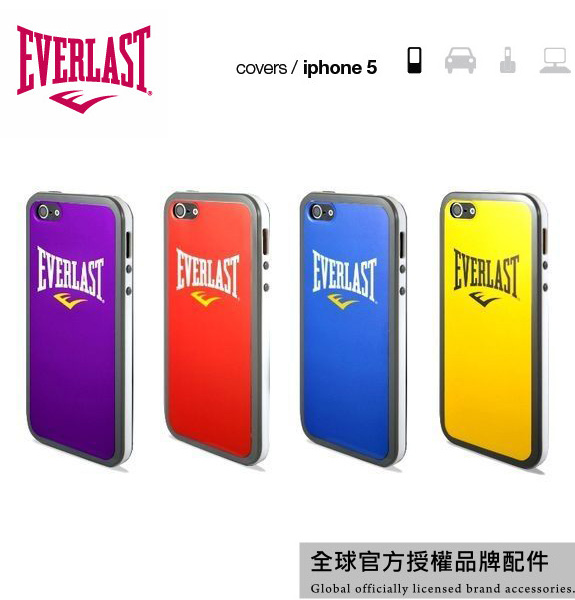 【愛瘋潮】美國拳擊品牌 Everlast iPhone SE / 5 / 5S 專用 原廠授權 限量保護殼