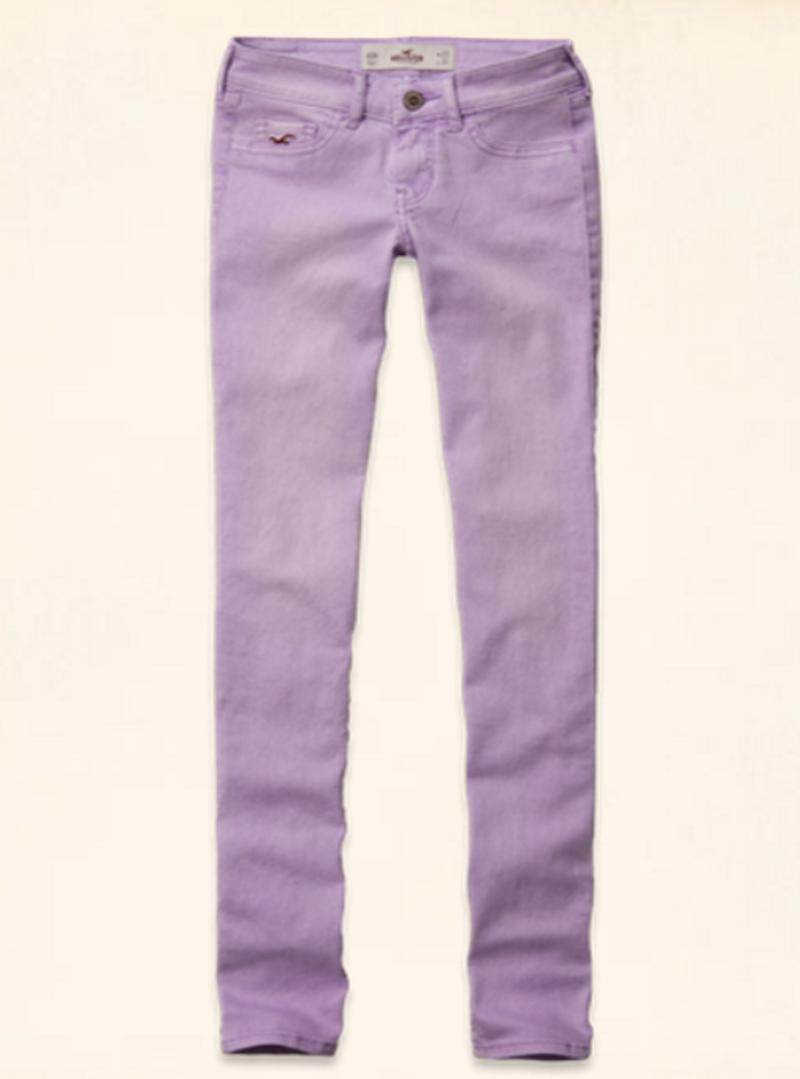 【LA STORES】HOLLISTER(女) 低腰SUPPER SKINNY 長褲(紫色)