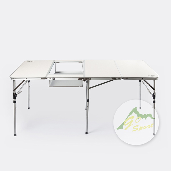 【露營趣】中和 GO SPORT 91706 四折火鍋桌 燒烤桌 摺疊桌 休閒桌 露營餐桌 料理桌 行動廚房