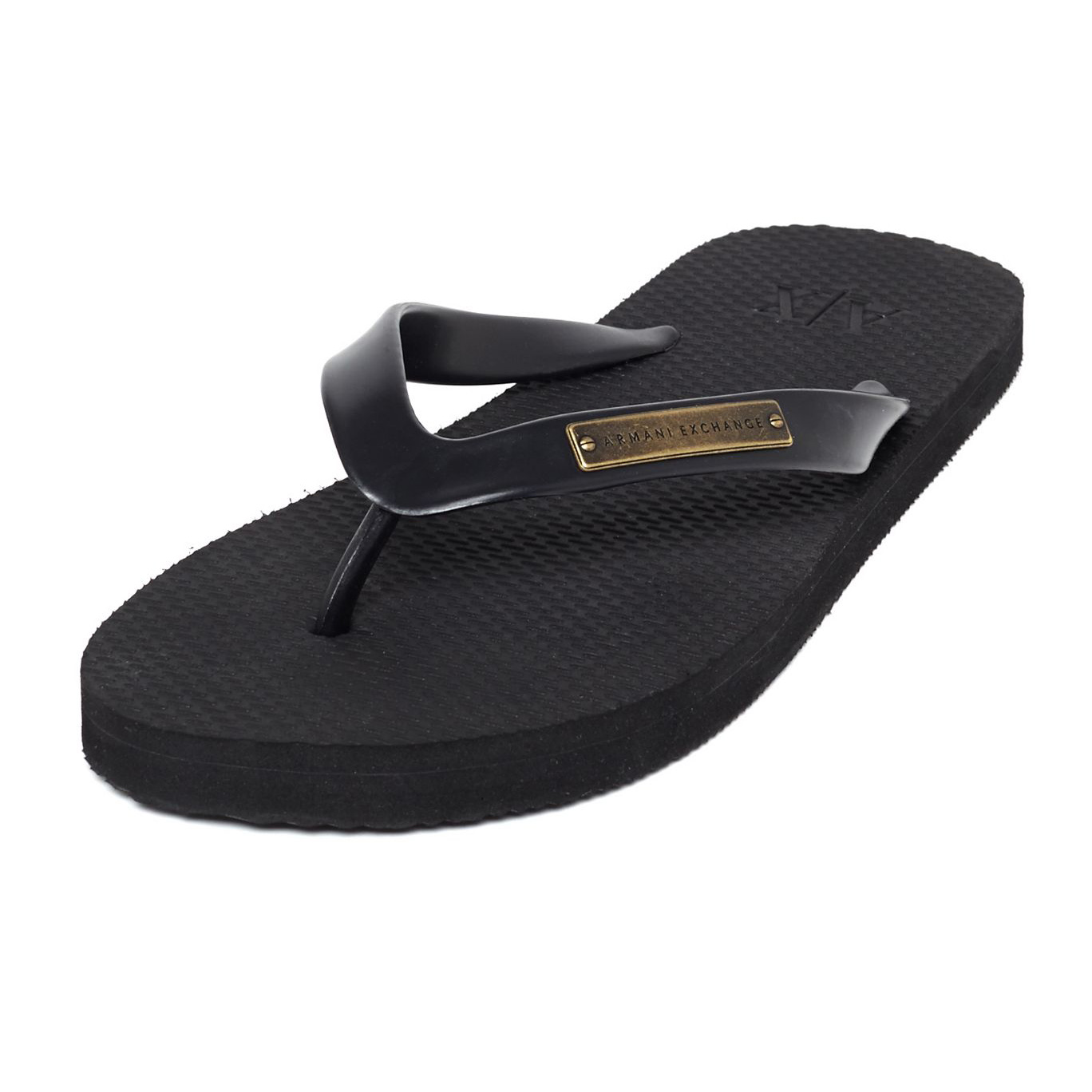 美國百分百【Armani Exchange】拖鞋 AX 夾腳拖 人字拖 涼鞋 沙灘鞋 海灘鞋 便鞋 US11號 F335