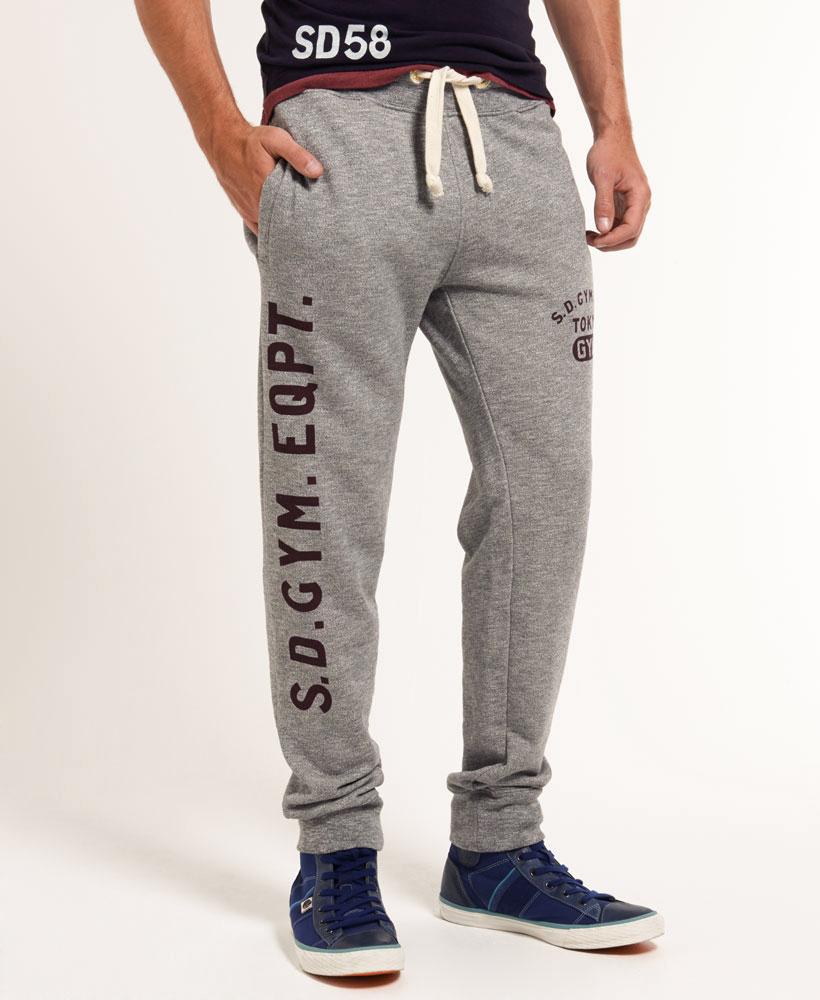 美國百分百【全新真品】Superdry 極度乾燥 棉褲 長褲 休閒褲 束口 縮口 抽繩 運動褲 灰色 L XL號 F489