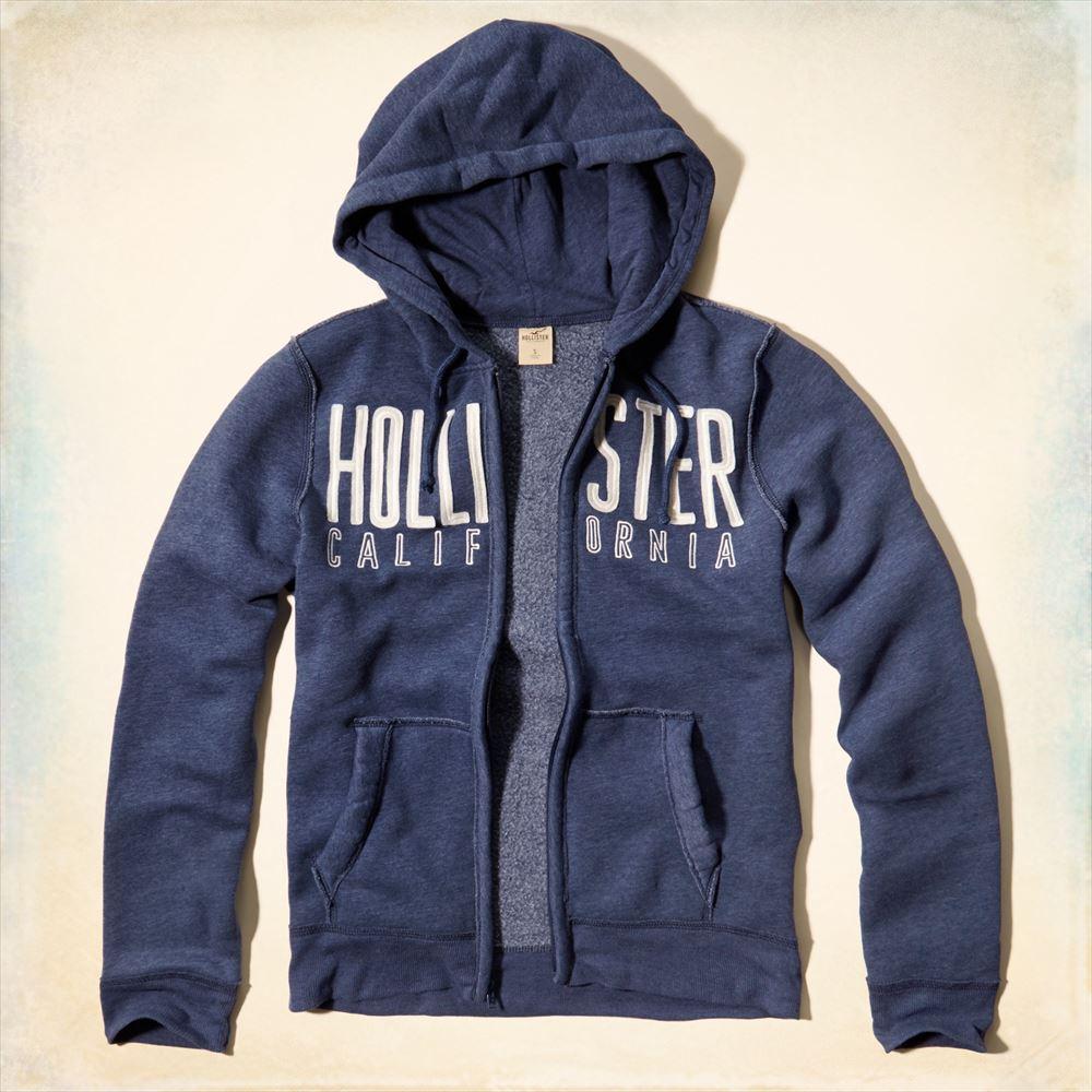 美國百分百【全新真品】Hollister Co. 外套 HCO 連帽 夾克 長袖 上衣 海鷗 藏藍 XL號 F510