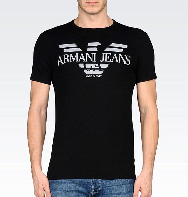 美國百分百【全新真品】Armani Jeans T恤 男 短袖 logo T-shirt AJ 黑色 S號 F463