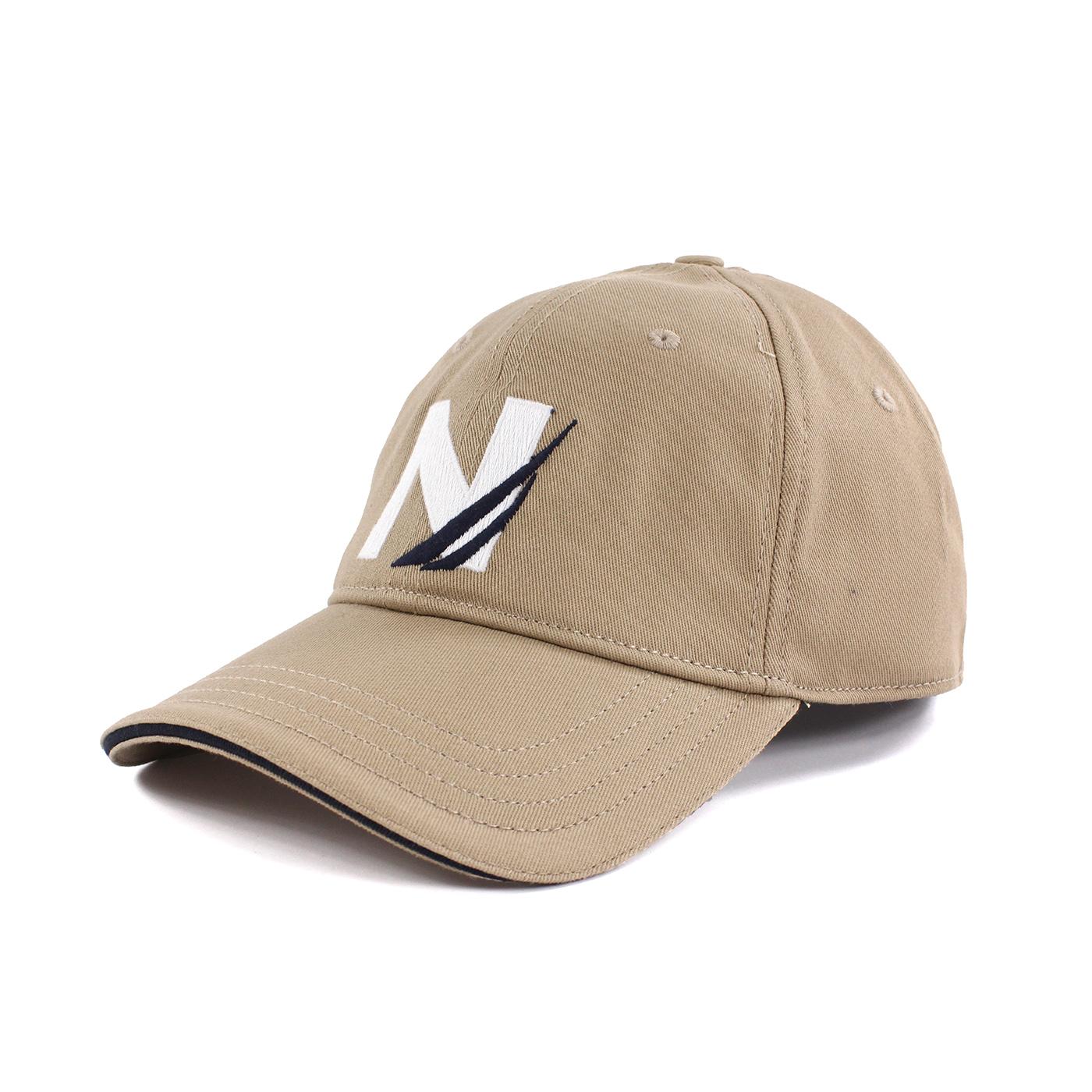 美國百分百【全新真品】NAUTICA 帆船牌 帽子 配件 棒球帽 男帽 遮陽帽 鴨舌帽 LOGO 卡其 S號 F603