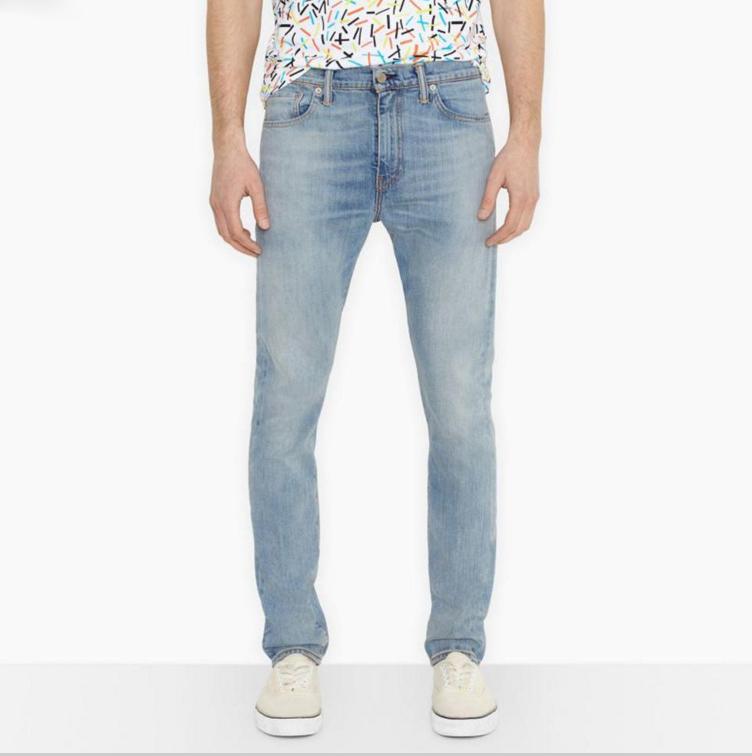 美國百分百【全新真品】Levis 510 Skinny Fit 男 牛仔褲 直筒 修身 窄版 單寧 淡藍 刷色 30腰 E283