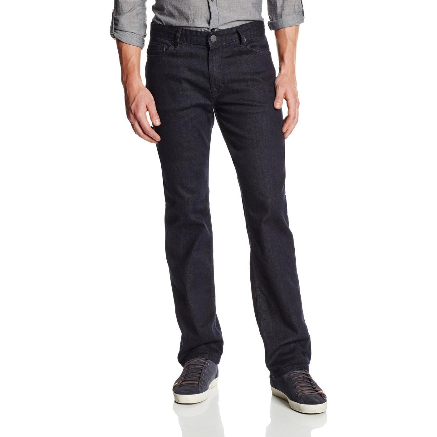 美國百分百【Calvin Klein】牛仔褲 CK 休閒褲 長褲 單寧 小直筒 修身 男 深藍色 30腰 F653