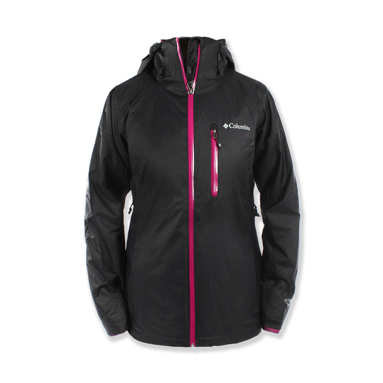 美國百分百【全新真品】Columbia 外套 夾克 連帽外套 哥倫比亞 兩件式 防水 發熱 黑色 女 S號 F682