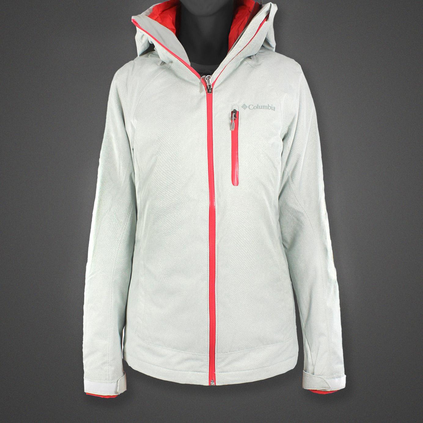 美國百分百【全新真品】Columbia 外套 夾克 連帽外套 哥倫比亞 兩件式 防水 發熱 白色 女 XS號 F682