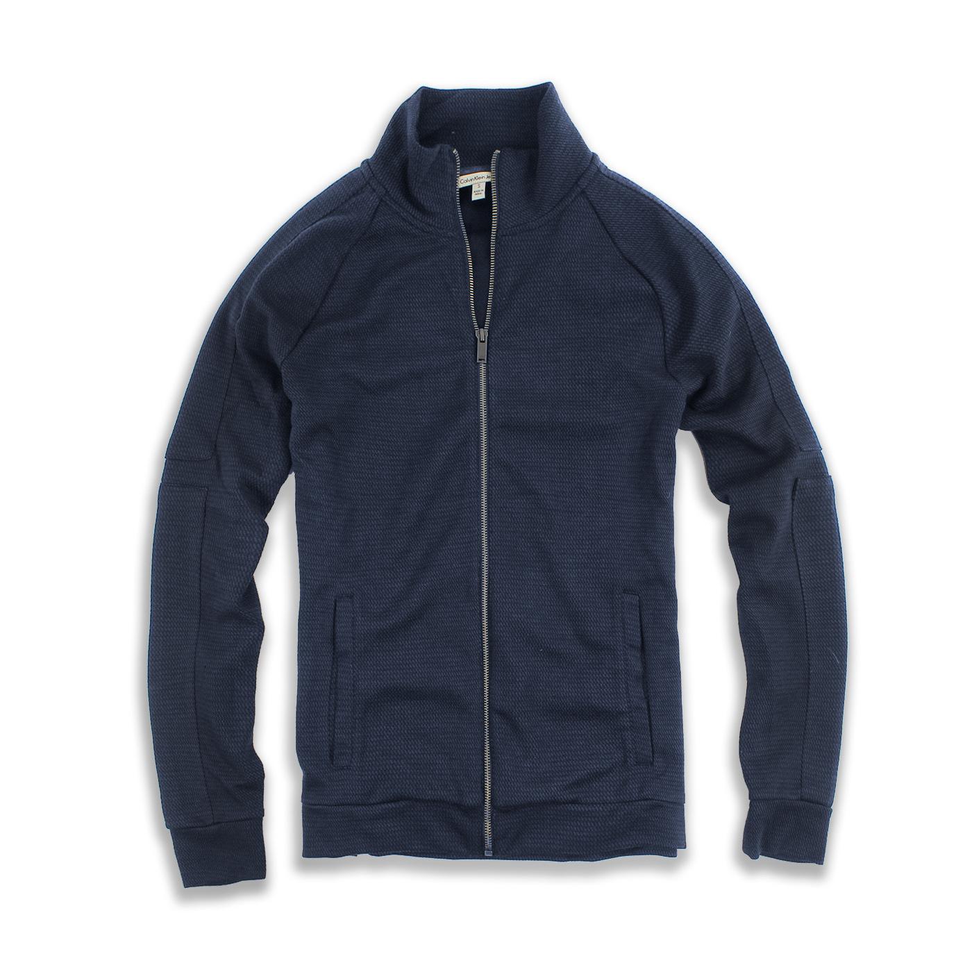 美國百分百【全新真品】Calvin Klein 外套 CK 夾克 立領 騎士 深藍 男衣 M XL號 F750