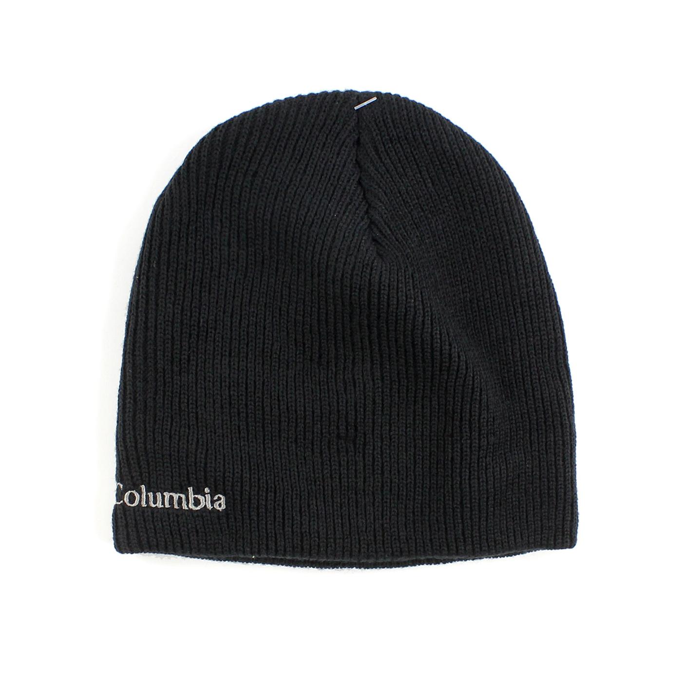 美國百分百【全新真品】Columbia 哥倫比亞 帽子 毛線帽 毛帽 針織帽 保暖 登山 戶外運動 配件 黑色 F766