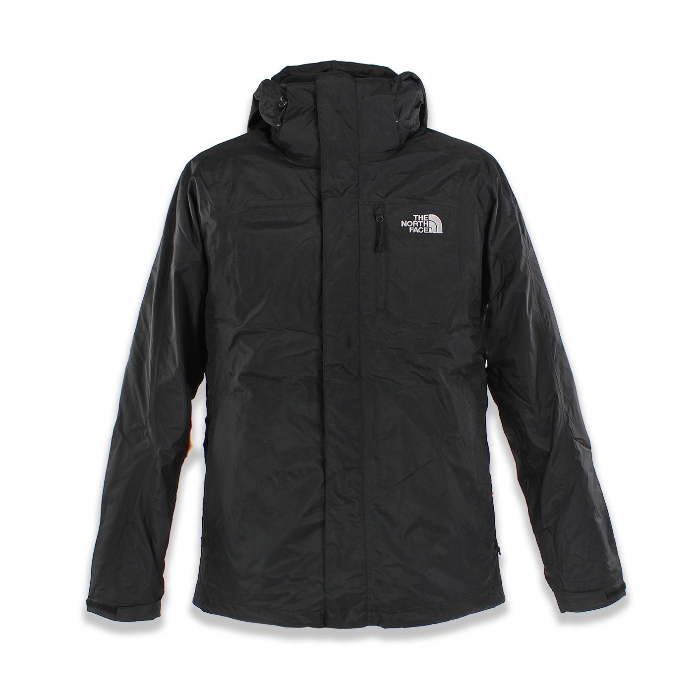 美國百分百【The North Face】防風 連帽 外套 TNF 防水 保暖 刷毛 兩件式 北臉 黑色 S號 F788