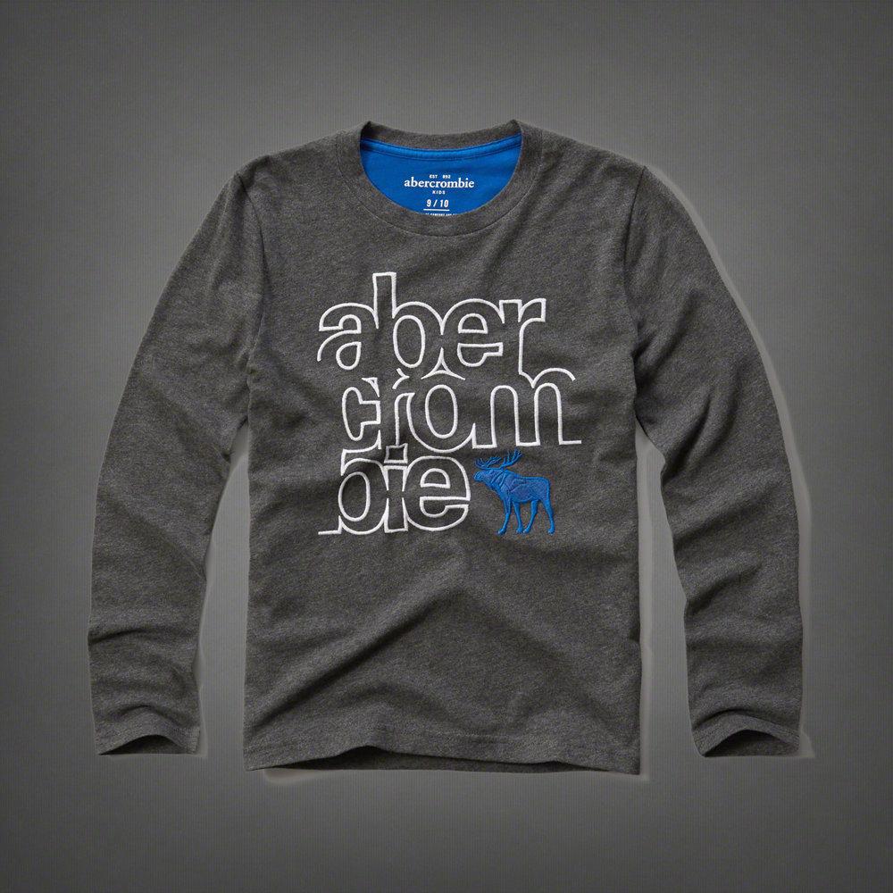 美國百分百【Abercrombie & Fitch】T恤 AF 長袖 T-shirt 麋鹿 深灰 男 女 特價 S號 F810