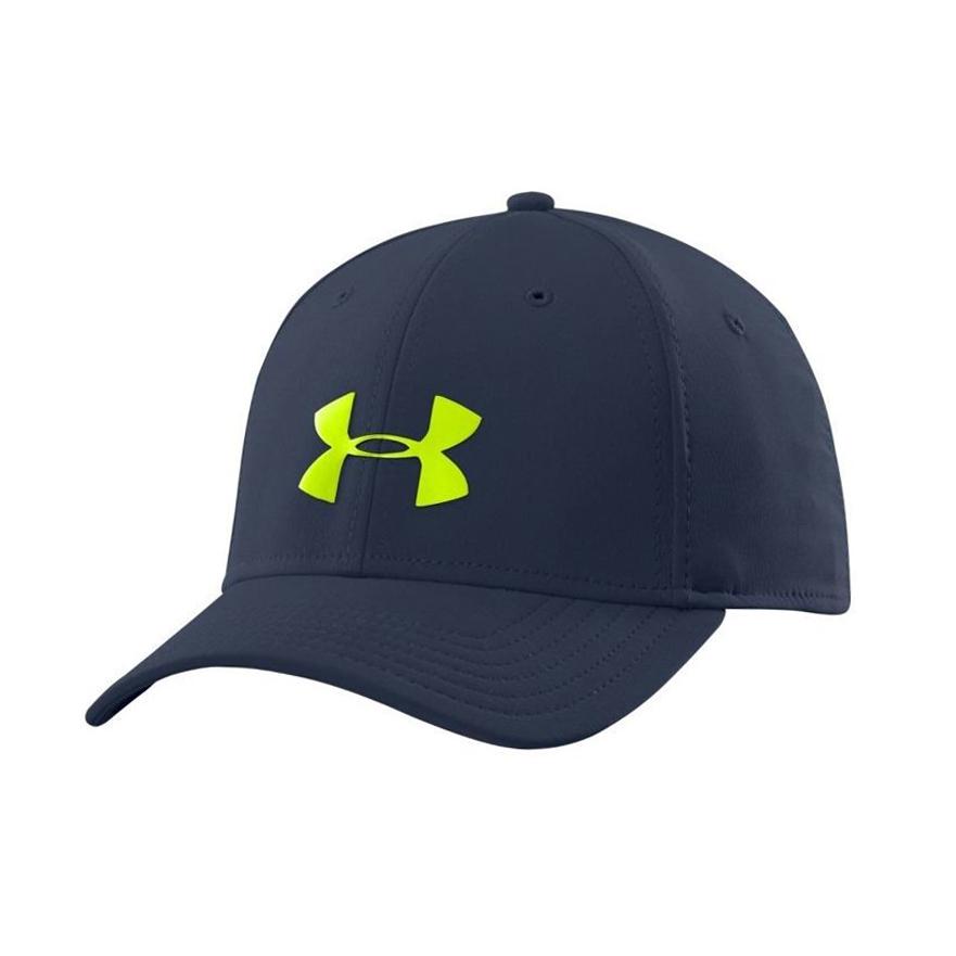 美國百分百【Under Armour】UA 帽子 配件 棒球帽 男帽 遮陽帽 鴨舌帽 LOGO 深藍 M/L號 F848