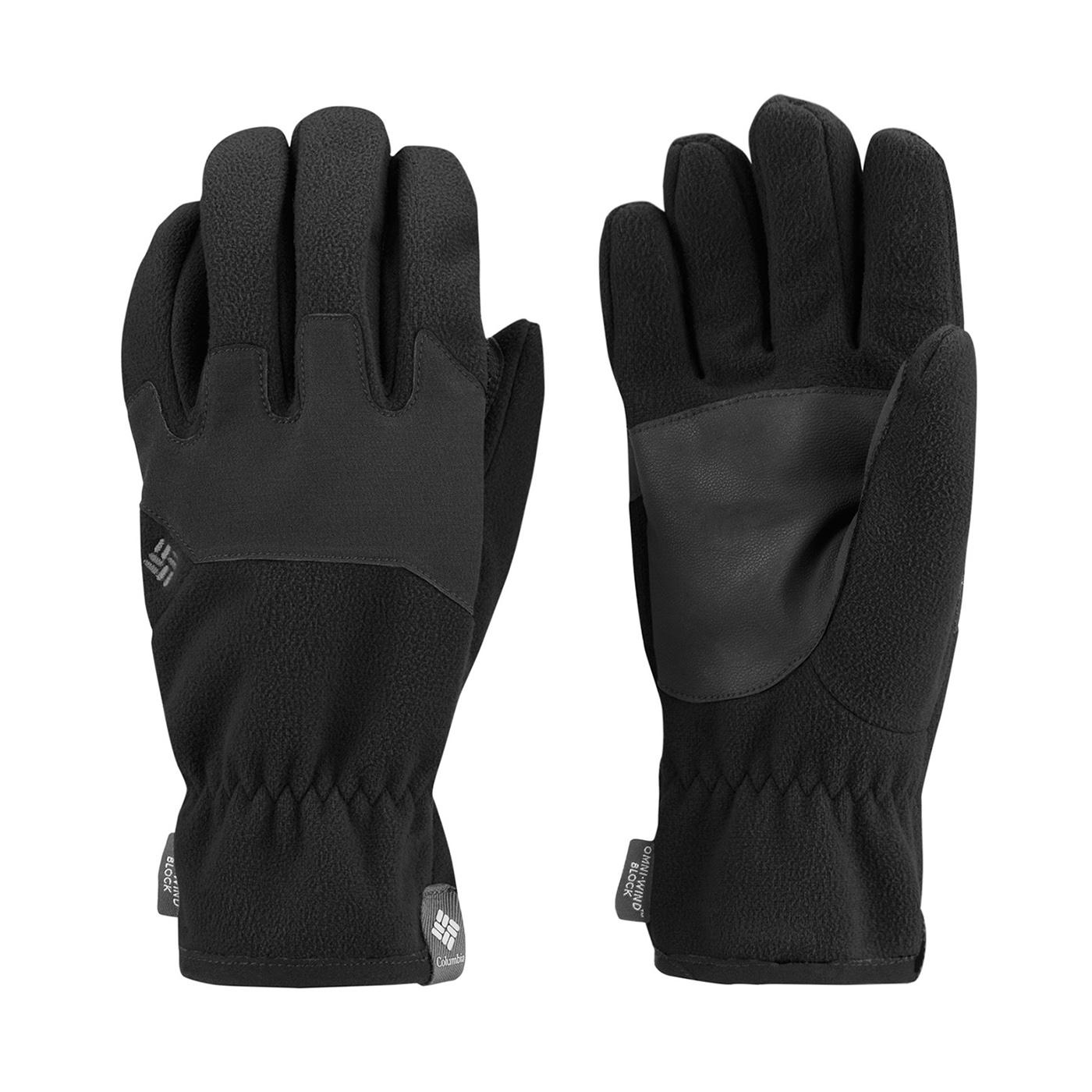 美國百分百【Columbia】手套 配件 防風 透氣 防寒 登山 滑雪 Omni-Heat 發熱 黑色 S號 F851